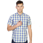 Appealing Peter England Mens Checkered Shirt