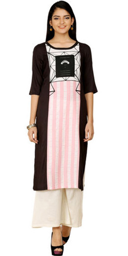 Bewitching Black Kurti by W