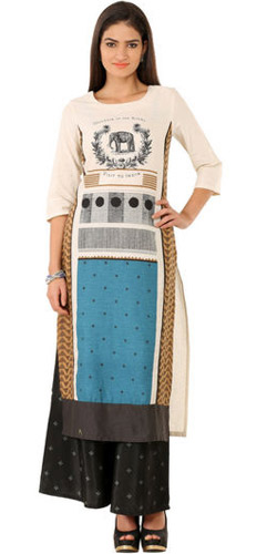 Souvenir Print Kurti by Wills Lifestyle