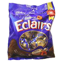 Delectable Pack of Cadbury Eclairs Chocolate online