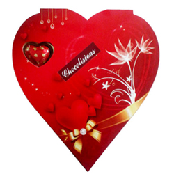 Sumptuous Homemade Chocolates in Heart Shape Box