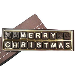 Marvelous Merry Christmas Quoted Dark Chocolate with Heavenly Taste