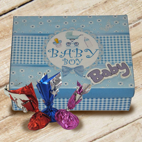 Amazing Box of Homemade Chocolates for Baby Boy