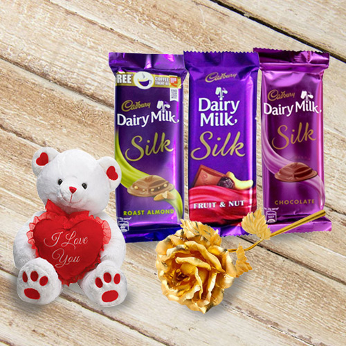 Delicious Chocolate N Teddy Gift Hamper