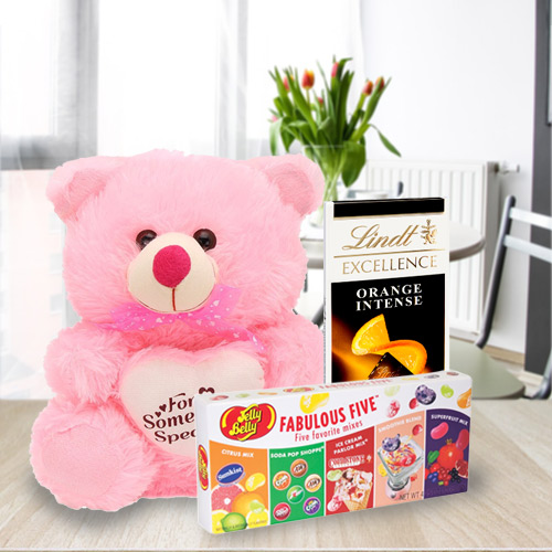 Exciting Teddy N Chocolates Hamper