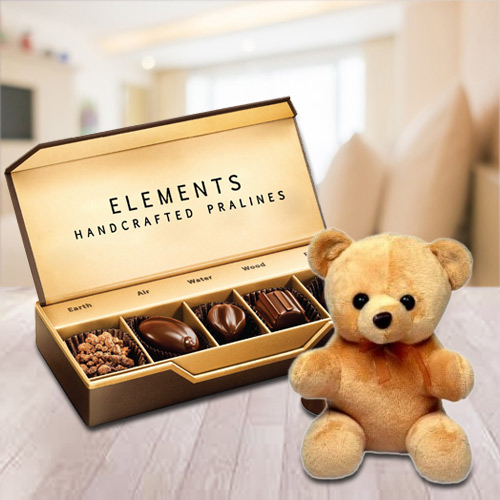 Delicious Element Chocolates from ITC with a Small Teddy