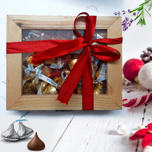 Delightful Hersheys Kisses Wooden Gift Box