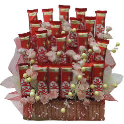 Gift of Nestle Kitkat Chocolate Arrangement