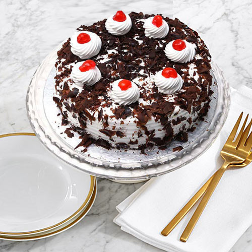 Tempting Black Forest Cake from Taj or 5 Star Hotel Bakery