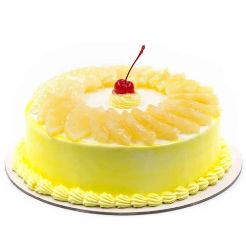 Scrumptious Pineapple Cake from Taj or 5 Star Hotel bakery
