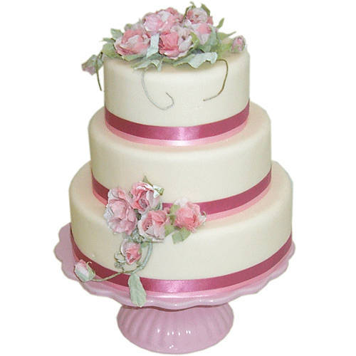 Express your love with this Three-Tier Wedding Cake