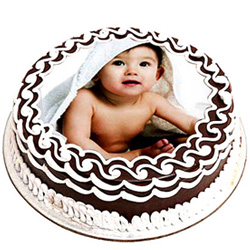 Design-of-Delight 1 Kg Chocolate Photo Cake