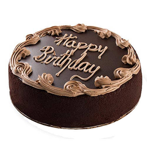 Inciting Zest 1 Lb Birthday Fresh Chocolate Cake from 3/4 Star Bakery