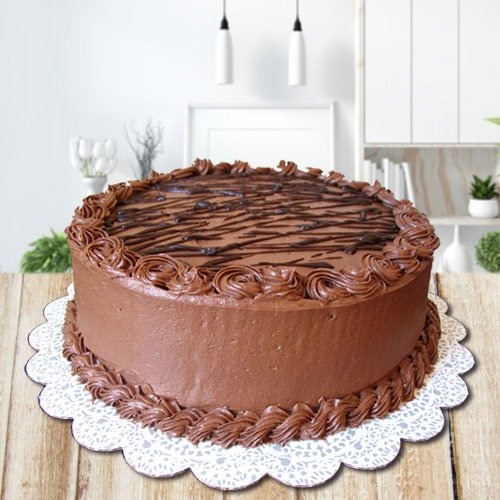 3/4 Star Bakerys Patterned Magnificence 2.2 Lb Chocolate Cake