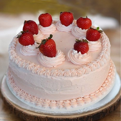 Greed's Fulfillment 1 Lb Strawberry Cake from 3/4 Star Bakery