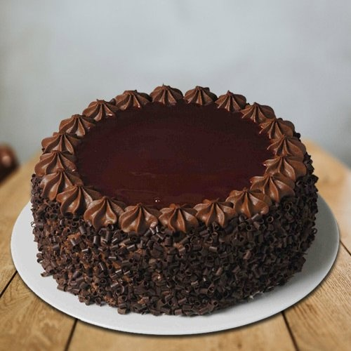 Extraordinary 1 Lb Chocolate Themed Eggless Cake from 3/4 Star Bakery