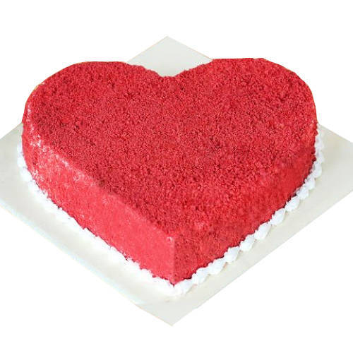 Beautiful Heart-Shaped Red Velvet Cake