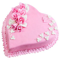 Buy Online Heart-Shape Strawberry Cake