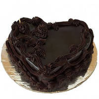 Online Deliver Heart-Shape Chocolate Cake