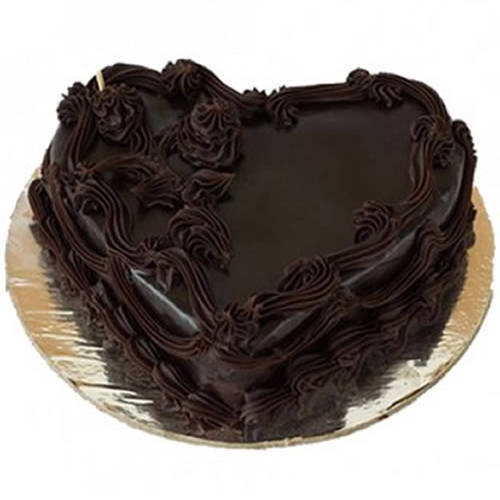 Bakery-Fresh Heart Shape Chocolate Cake