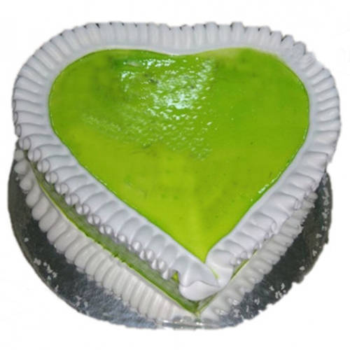 Memorable Heart-Shape Kiwi Cake