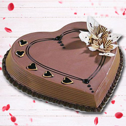 Send Heart Shape Coffee Cake Online