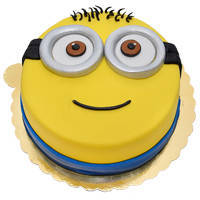 Shop Online Happy Minions Fondent Cake for Kids