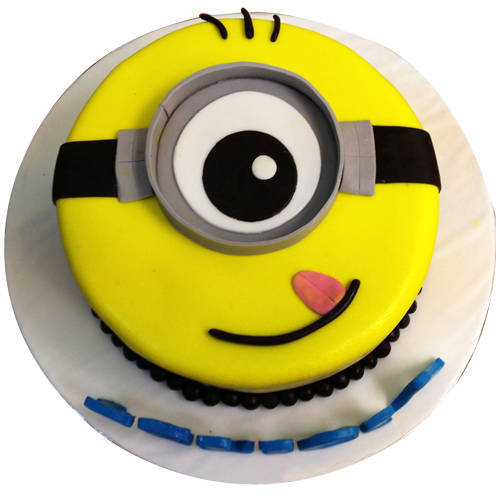 Minion Design Cartoon Cake