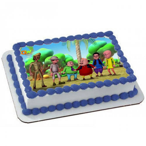 Motu Patlu Kids Delight Photo Cake
