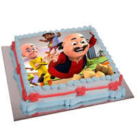 Shop Motu Patlu Photo Cake for Kids
