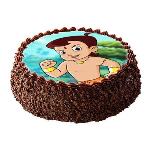Cute Chota Bheem Photo Cake