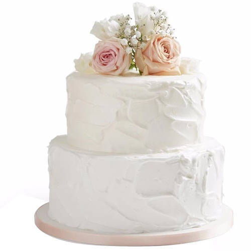 Inspiring 2 Tier Wedding Cake