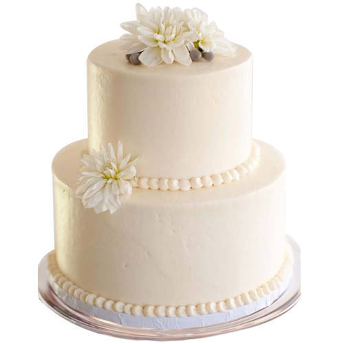 2 Tier Creamy Wedding Cake