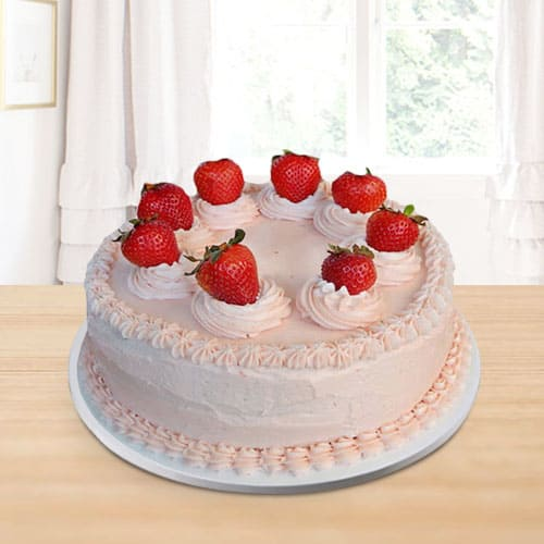 Delicious Strawberry Cake for Birthday