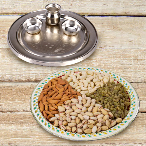 Special Puja Thali N Mixed Dry Fruits