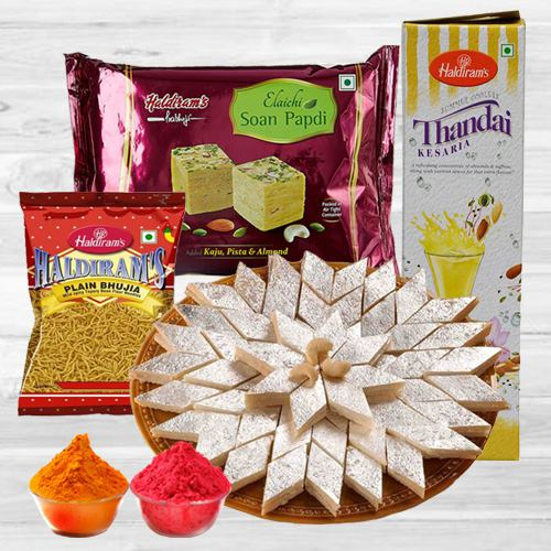 Mouth watering Haldirams Gift Hamper