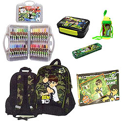 Fabulous Ben 10 School Bag Combo
