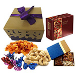 Assorted Gourmet Hamper Wrapped with Delicacy