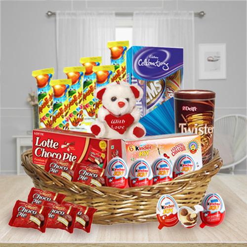Exciting Kids Chocolates Basket
