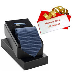 Wonderful Gift of Rs. 1000/- Mainland China Gift Voucher with Tie n Tiepin Set