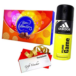 Mesmerizing Pack of Cadbury Celebration, Adidas Deo and Gift Voucher
