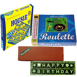 Exclusive Kids Delight Board Games with Chocolates
