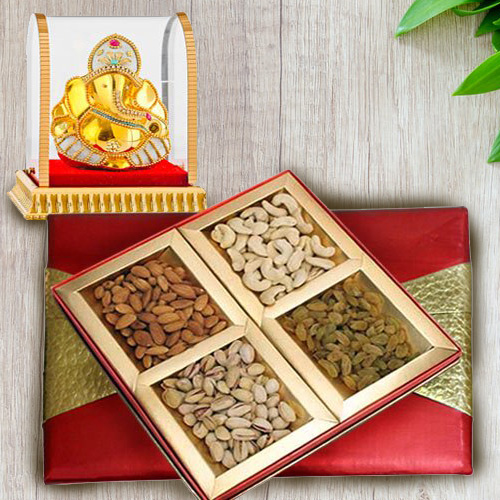 Marvelous Gift Box of Assorted Nuts Dry Fruits with Vinayak Murti