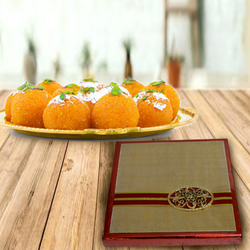 Angelic Haldiram Boondi Ladoo with Gift Box of Assorted Dry Fruits