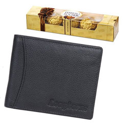 Exclusive Gift of Longhorns Leather Wallet with Ferrero Rocher