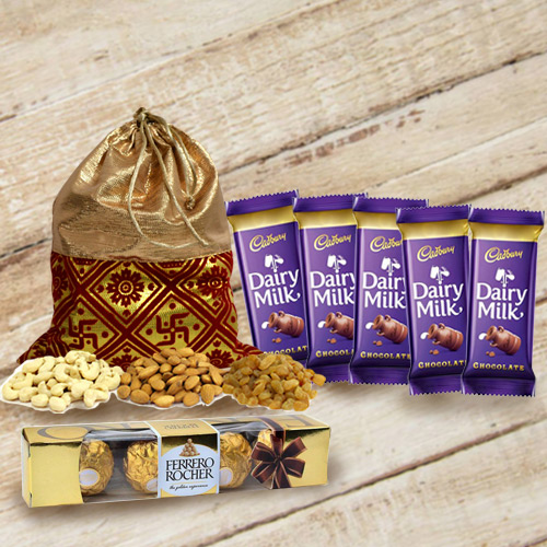 Delightful Chocolates N Dry Fruits Gift Combo