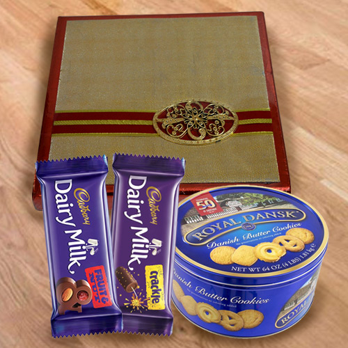 Crispy Pack of Cookies, Chocolates N Dry Fruits Gift Combo