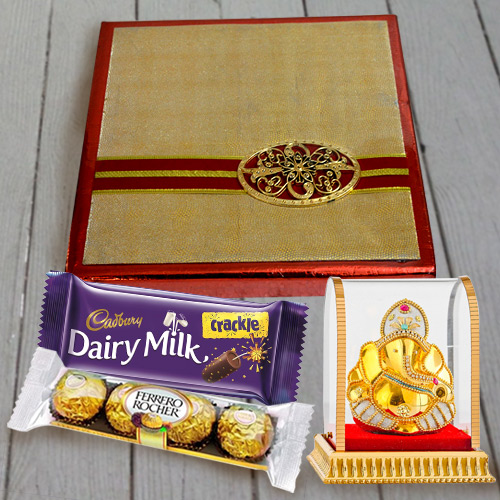 Heavenly Chocolates N Dry Fruits Gift Combo with Vighnesh Ganesh Idol