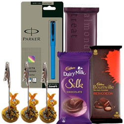 Charming Gift of Pen with Chocolate N Paper Holder for Him