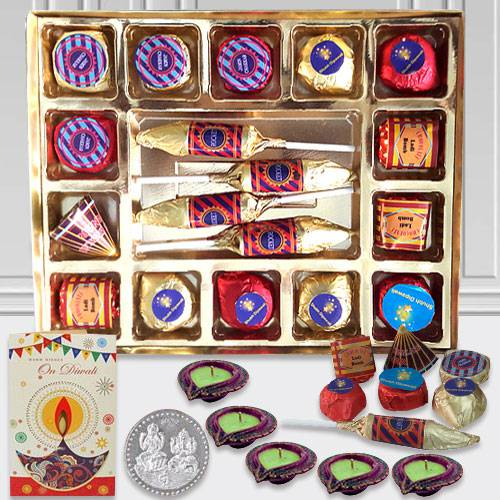 Delectable Handmade Chocolate Hamper with Diwali Assortments